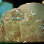 Portacandele cristallo argento